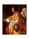 Judith halshugger Holofernes Giclee-tryk i høj kvalitet af Cristofano Allori