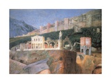 Meeting (buildings) Giclee Print by Andrea Mantegna