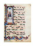 Choral response for religious services, illuminated manuscript, 14th c. Osservanza Basilica, Siena Print