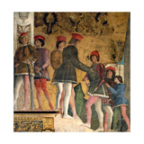 Court of Gonzaga Giclee Print by Andrea Mantegna