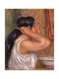 Woman Combing Her Hair Giclee Print by Pierre-Auguste Renoir