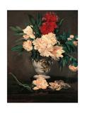 Vase with Peonies on a Pedestal Kunstdrucke von Édouard Manet