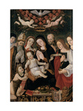 Madonna and Child with Saints Prints by Francesco da Montereale
