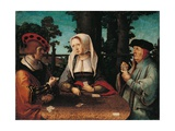 Kartenspieler Kunstdrucke von Lucas Van Leyden