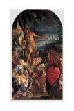 Sermon of St. John the Baptist & Baptism of Jesus Christ Posters af Giovanni Antonio Fumiani