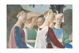 Legend of the Cross: Solomon & Sheba Posters by  Piero della Francesca