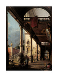 Perspective with Portico Posters by  Canaletto