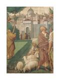 Annunciation to Joachim and Anna Giclee Print by Gaudenzio Ferrari