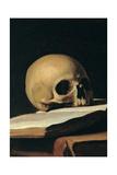 Caravaggio - St. Jerome (Detail of skull) Obrazy
