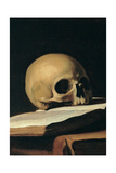 St. Jerome (Detail of skull) Prints by  Caravaggio