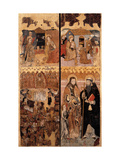 Retablo (devotional painting) of the Last Judgment, w. Annunciation, Nativity, Saints. Italy Giclee Print