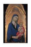 Madonna med barnet Plakater af Simone Martini