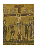 Crucifixion. Central dome. Arch. St. Mark's Basilica, Venice, Italy 10th c. Prints