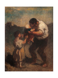 Kiss, or Father and Child Posters by Honor Daumier