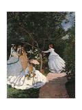 Frauen im Garten Kunst von Claude Monet