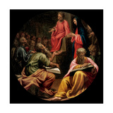 Mysteries of the Rosary, Christ, the Disputation Giclee Print by Vincenzo Campi