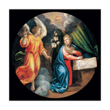 Mysteries of the Rosary, the Annunciation Giclee Print by Vincenzo Campi