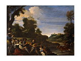 Landscape with concert (Rustic Concert) Prints by  il Guercino