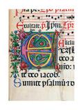 Psalter with Hymns, illuminated manuscript by Matteo di Giovanni, 1474. Osservanza Basilica, Siena Posters by Matteo di Giovanni