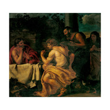 Jupiter and Mercury at Philemon and Baucis Giclee Print by Carlotto loth