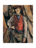 Man with a Red Waistcoat, copy after Cezanne by Egisto Paolo Fabbri, 20th c. Print by Egisto Paolo Fabbri