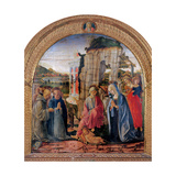 Nativity, Sts. Bernard,Thomas Aquinas, Two Angels Poster by Francesco di Giorgio Martini