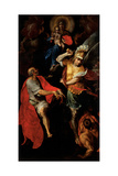 Madonna and Child with Sts. John the Evangelist and Michael Prints by Giovanni Ambrogio Figino