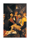 Adoration of the Shepherds Art by Lorenzo Lotto