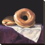 Reclining Doughnut Stretched Canvas Print by Cathy Lamb