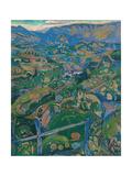 Grande Descrizione Asolana, landscape by Gino Rossi, 1913. Venice, Italy Giclee Print by Gino Rossi