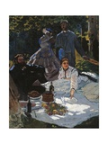 Breakfast in the Greenery Giclee Print by Claude Monet