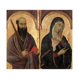 Polyptych. Sts. Paul, and Virgin Mary Prints by Segna di Segna di