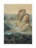 Thetis Consoling Achilles, detail Prints by Tiepolo Giambattista