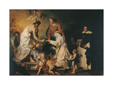 Mystic Marriage of St. Caterina de Ricci Prints by Pierre Subleyras