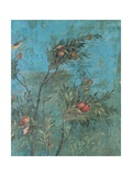 Summer Triclinium: Garden Paintings, 20 A.D. Detail. Ancient Roman painting. Palazzo Massimo, Rome Poster