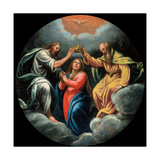 Mysteries of the Rosary, Coronation of the Virgin Giclee Print by Vincenzo Campi