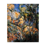 Landscape Rocks Above the Caves at Chateau Noir Prints by Paul Cézanne