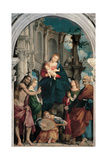 Enthroned Madonna Sts. John the Baptist, Catherine, Daniel and Peter Prints by il Pordenone Sacchis
