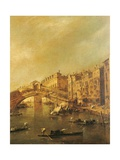 Rialto Bridge and the Riva del Vin (Venice) Posters by Francesco Guardi