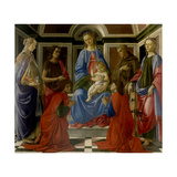 Madonna and Child Enthroned, with Saints by Botticelli, c. 1470. Uffizi Gallery, Florence, Italy Giclee Print by Sandro Botticelli