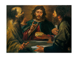 Gioacchino Assereto, The Supper in Emmaus, 17th c. Private collection Prints by Gioacchino Assereto