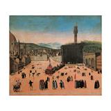 Torture of Savonarola in Piazza della Signoria Posters