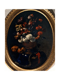 Chrysanthemums, Narcissuses, Tulips and Fruits on a Table Prints by Pier Francesco Cittadini
