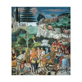 Journey of the Magi Plakat af Benozzo Gozzoli
