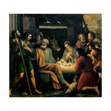 Nativity and the Adoration of the Shepherds Láminas por Giuseppe Vermiglio