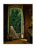 Window overlooking the Apple Orchard Giclee Print by Vito D'ancona
