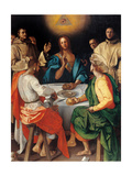 Supper at Emmaus Giclee Print by Pontormo Carrucci