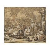 Bacchanal with Dante and Beatrice Giclee Print by Felice Giani