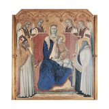 Carmine Altarpiece, Enthroned Virgin and Child Plakat af Pietro Lorenzetti