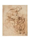 Drawing, Madonna and Child with St. John Reproduction procédé giclée par  Raphael